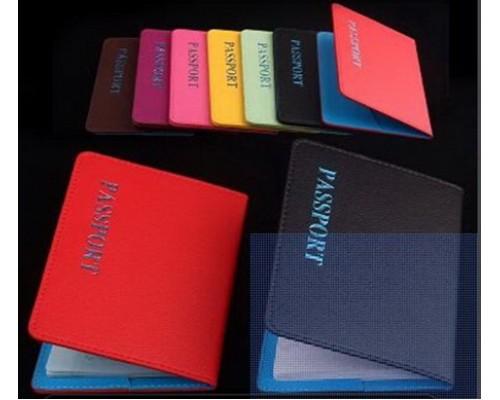 """Обложка для паспорта 01_1 """"PASSPORT"""" (цвета в ассортименте)"""
