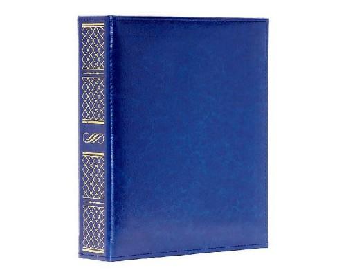 Альбом для монет на кольцах Премиум, 218*270, к/з синий, без тис. 63АМП