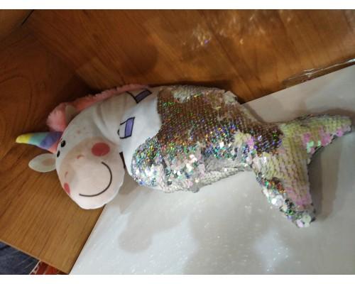 Мягкая игрушка Единорожка-русалка В40 см. 6318/БЕЛ/40