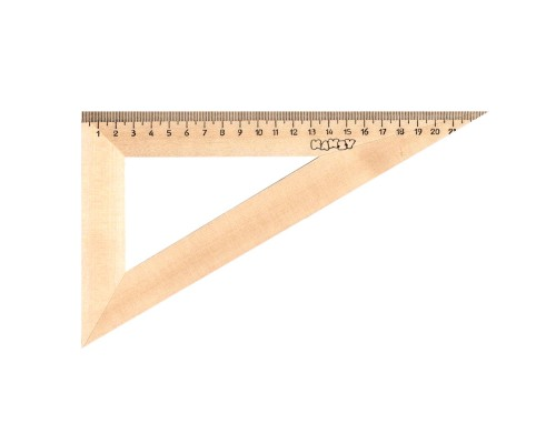 Треугольник деревянный 23см, 30° KANZY