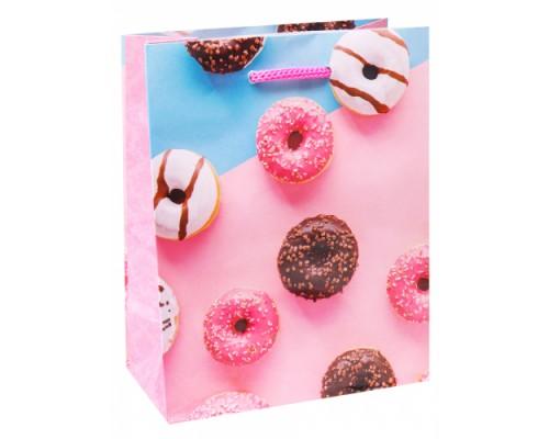 Optima Пакет подарочный с глянцевой лам. 11,5-14,5*6 см (S) Глазированные пончик