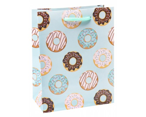 Optima Пакет подарочный с глянцевой ламинацией 11,5-14,5*6 см (S) Сладкие пончик
